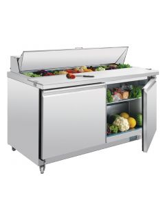 This is an image of a Polar 2 Door Preparation Counter 527Ltr