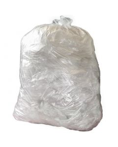 This is an image of a Jantex Heavy Duty Clear Bin Bags 80 Litre Pack of 200