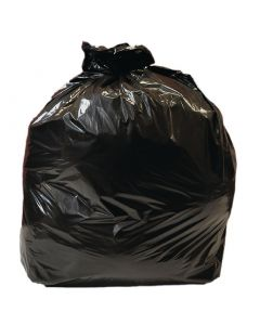 This is an image of a Jantex Large Medium Duty Black Bin Bags 80 Litre Pack of 10