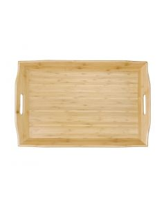 This is an image of a Olympia Bamboo Butlers Tray - 584x381x76mm