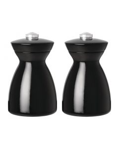 This is an image of a Olympia Dark Wood Salt and Pepper Mill Set Black