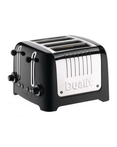 This is an image of a Dualit Lite Toaster 4 Slot Black