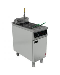 This is an image of a Falcon 400 Series Twin Basket Electric Fryer E421F