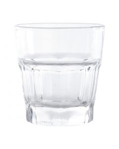This is an image of a Olympia Toughened Orleans Rocks Tumbler - 240ml 85oz (Box 12)