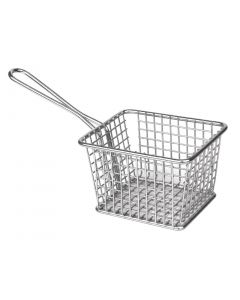 This is an image of a Olympia Square Presentation Basket StSt Large - 80x120x100mm