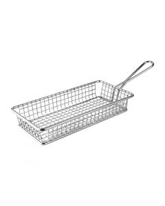 This is an image of a Olympia Rectangular Presentation Basket StSt - 35(H)x215(W)x105mmD