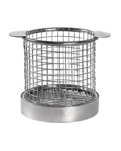 This is an image of a Olympia Round Presentation Basket with Ears - 95dia x 80Hmm