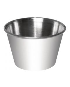 This is an image of a Sauce Cup StSt - 70ml 25oz (Box 12)