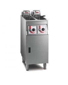 This is an image of a FriFri Super Easy 422 Freestanding Fryer - Twin Tank (Direct)