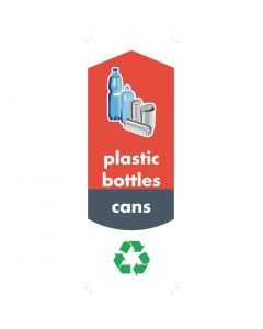 This is an image of a Rubbermaid Bottle and Can Recycling Stickers