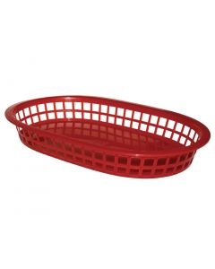 """This is an image of a PP Food Basket Red - 275x175mm 10 12x7"""" (Pack 6)"""