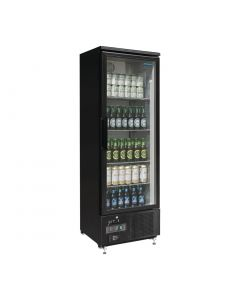 This is an image of a Polar Upright Back Bar Cooler with Hinged Door in Black 307Ltr