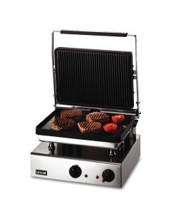This is an image of a Lincat Lynx 400 Electric Heavy Duty Ribbed Grill GG1R