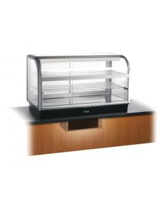 This is an image of a Lincat Seal 650 Curved Refrigerated Back Service Merchandiser 1250mm