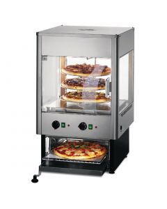 This is an image of a Lincat Seal Heated Double Door Merchandiser with Built In Oven UMO50D