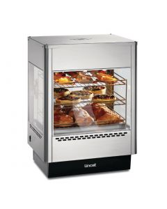 This is an image of a Lincat Seal Heated Double Door Merchandiser with Static Rack UMS50D