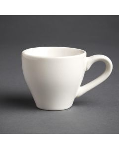 This is an image of a Olympia Cafe Espresso Cup White - 100ml 35oz (Box 12)