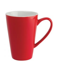 This is an image of a Olympia Cafe Latte Cup Red - 454ml 16oz (Box 12)