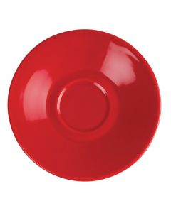 This is an image of a Olympia Cafe Espresso Saucer Red (Box 12)