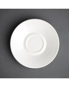 This is an image of a Olympia Cafe Espresso Saucer White (Box 12)