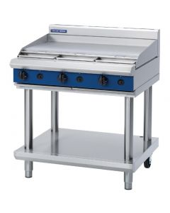 This is an image of a Blue Seal Evolution Cooktop Griddle Burner LPG on Stand 900mm G516A-LSL