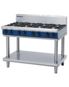This is an image of a Blue Seal Evolution Cooktop 8 Open Burners Natural Gas on Stand1200mm G518D-LSN