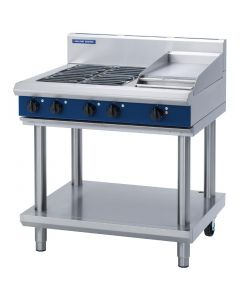 This is an image of a Blue Seal Evolution Cooktop 4 Element Griddle Electric on Stand 900mm E516C-LS