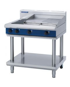 This is an image of a Blue Seal Evolution Cooktop 2 ElementGriddle Electric on Stand 900mm E516B-LS