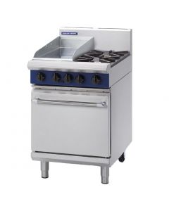 This is an image of a Blue Seal Evolution 2 BurnerGriddle Static Oven Nat Gas 600mm G504CN