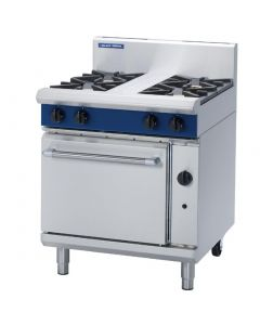 This is an image of a Blue Seal Evolution 4 Burner Static Oven Natural Gas 750mm G505DN