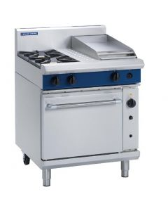 This is an image of a Blue Seal Evolution 2 BurnerGriddle Convection Oven LPG 750mm G54CL