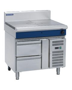 This is an image of a Blue Seal Evolution Target Top with Refrigerated Base Nat Gas - 900mm (Direct)