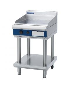 This is an image of a Blue Seal Evolution Griddle with Leg Stand Nat Gas 600mm GP514-LSN