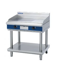 This is an image of a Blue Seal Evolution 13 Ribbed Griddle with Leg Stand Electric 900mm EP516-LS