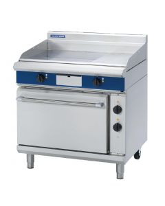 This is an image of a Blue Seal Evolution Chrome 13 Ribbed Griddle Static Oven Electric 900mm EPE506