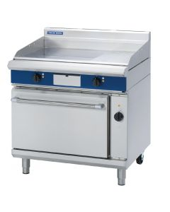 This is an image of a Blue Seal Evolution Chrome 13 Ribbed Griddle Convection Oven Elec 900mm(Direct)