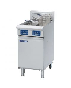 This is an image of a Blue Seal Evolution Twin Tank Fryer with Elec Controls Electric 450mm E44E