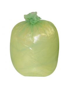 This is an image of a Jantex Garbage Bags Green 80 Litre Pack of 200