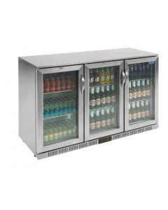 This is an image of a Polar Back Bar Cooler with Hinged Doors in Stainless Steel 330Ltr