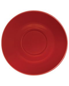 This is an image of a Olympia Cafe Saucer Red for 8oz and 12oz (Box 12)