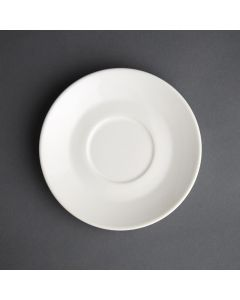 This is an image of a Olympia Cafe Saucer White for 8oz and 12oz (Box 12)
