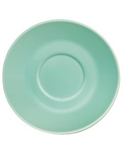 This is an image of a Olympia Cafe Saucer Aqua for 8oz and 12oz (Box 12)