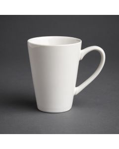 This is an image of a Olympia Cafe Latte Cup White - 340ml 12oz (Box 12)