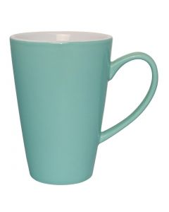 This is an image of a Olympia Cafe Latte Cup Aqua - 340ml 12oz (Box 12)