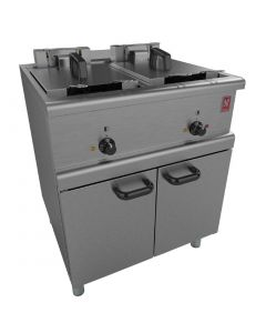 This is an image of a Falcon 350 Series Freestanding Twin Pan Four Basket Electric Fryer E35037