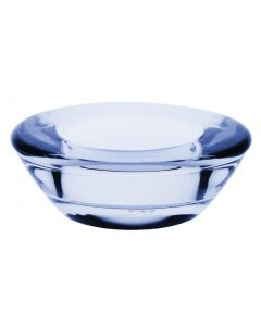 This is an image of a Olympia Saucer Tealight Holder Blue - 25x75x75mm (Box 6)