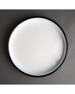 This is an image of a Olympia Enamel Serving Tray Round - 320(dia)x45(h)mm
