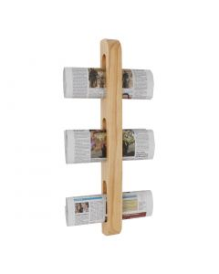 This is an image of a Olympia Wooden Magazine Rack - 605x70x45mm