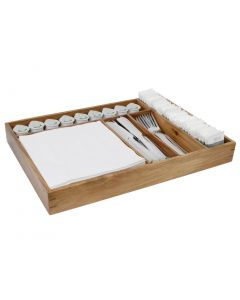 This is an image of a Olympia Server Table Tidy Tray - 440x310x50mm