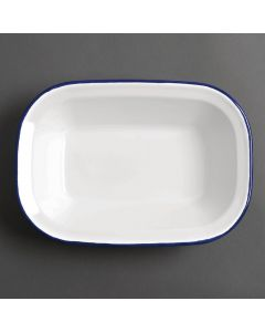 """This is an image of a Olympia Enamel Rectangular Serving Dish - 280x195x55mm 11x75x2 14"""" (Box 6)"""